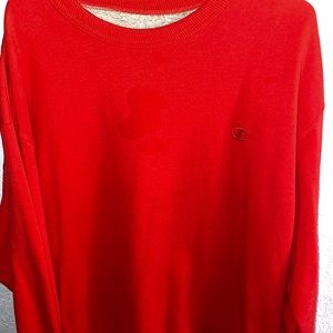 Champion Red Sweatshirt (with a stain)